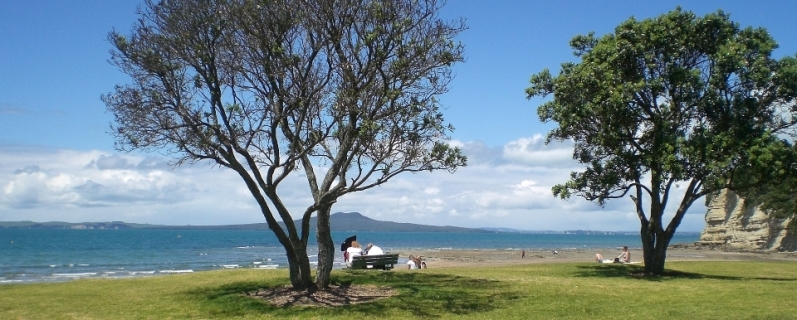 Rangitoto Island from Browns Bay, Auckland